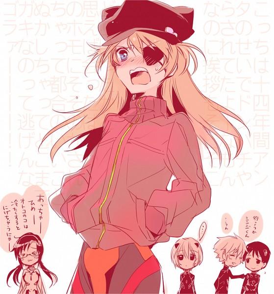 Tags: Anime, Pixiv Id 5994964, Neon Genesis Evangelion, Ikari Shinji, Souryuu Asuka Langley, Ayanami Rei, Makinami Mari Illustrious, Nagisa Kaworu, Translation Request, Pixiv, Fanart, Fanart From Pixiv