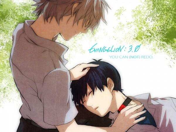 Tags: Anime, Pixiv Id 403610, Neon Genesis Evangelion, Nagisa Kaworu, Ikari Shinji, Fanart From Pixiv, Fanart, Pixiv, KawoShin