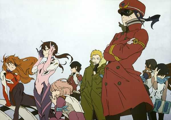Tags: Anime, Neon Genesis Evangelion, Souryuu Asuka Langley, Katsuragi Misato, Nagara Sumire, Ibuki Maya, Suzuhara Sakura, Akagi Ritsuko, Kitakami Midori, Makinami Mari Illustrious, Under Rim Glasses, Official Art, Scan