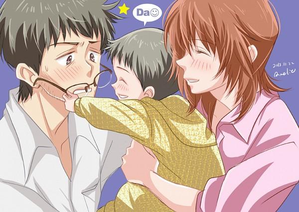 Tags: Anime, Pixiv Id 1318734, Neon Genesis Evangelion, Ikari Gendou, Ikari Shinji, Ikari Yui
