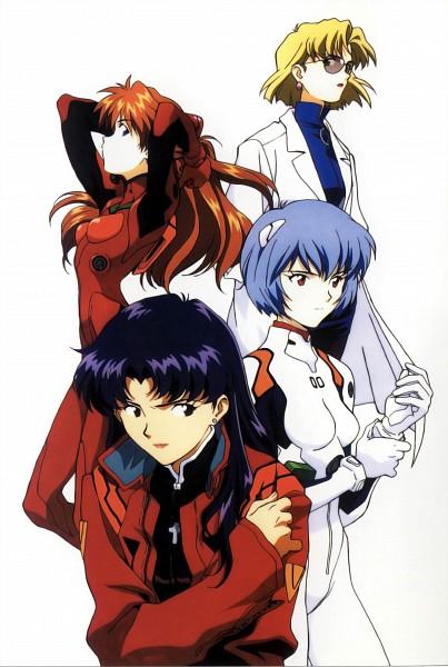 Tags: Anime, Honda Takeshi, Gainax, Neon Genesis Evangelion, Die Sterne, Souryuu Asuka Langley, Katsuragi Misato, Ayanami Rei, Akagi Ritsuko, Latex, Clean Version, Official Art, Scan
