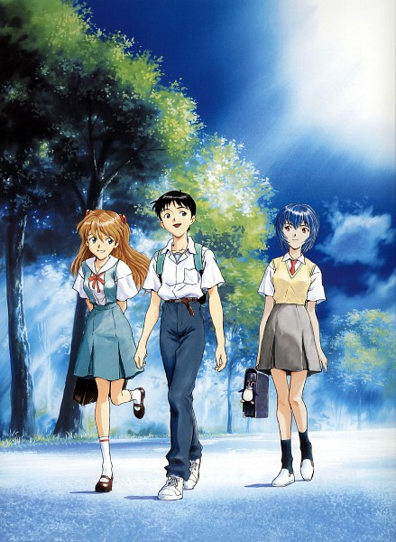 Tags: Anime, Shunji Suzuki, Gainax, Neon Genesis Evangelion, Die Sterne, Pen², Souryuu Asuka Langley, Ikari Shinji, Ayanami Rei, Key Chains, Scan, Official Art, Mobile Wallpaper