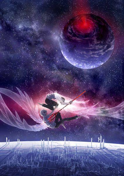 Tags: Anime, Pixiv Id 10489689, Neon Genesis Evangelion, Nagisa Kaworu, Ikari Shinji, Transparent Wings, Run Through, Pixiv, KawoShin