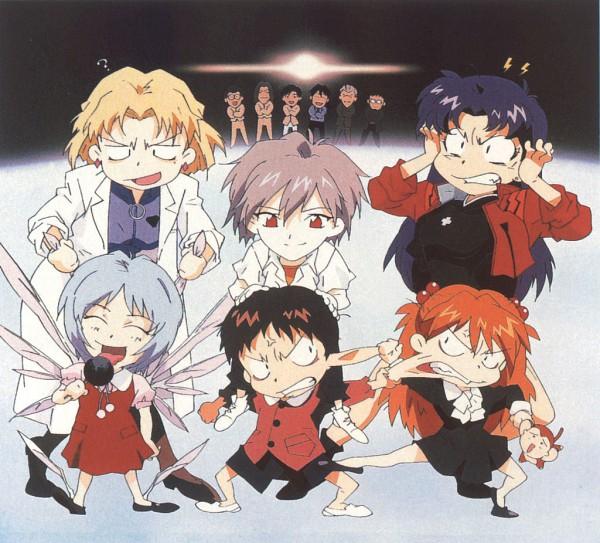 Tags: Anime, Nobutoshi Ogura, Gainax, Neon Genesis Evangelion, Die Sterne, Katsuragi Misato, Ibuki Maya, Kaji Ryoji, Ayanami Rei, Hyuga Makoto, Souryuu Asuka Langley, Aoba Shigeru, Nagisa Kaworu