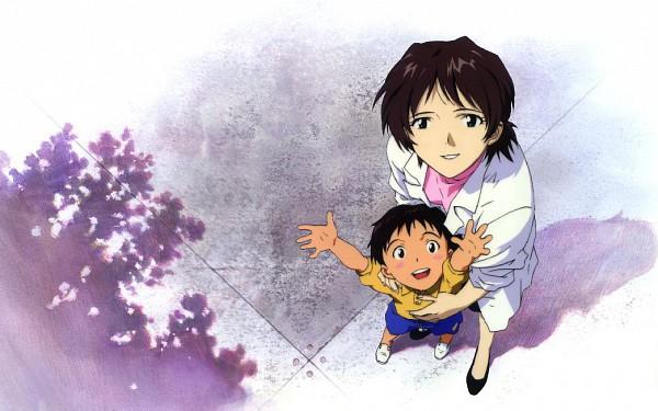 Tags: Anime, Hiramatsu Tadashi, Gainax, Neon Genesis Evangelion, Die Sterne, Ikari Yui, Ikari Shinji, Toddler, Official Art