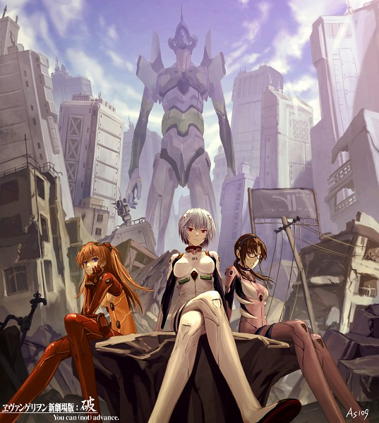 Tags: Anime, As109, Neon Genesis Evangelion, Makinami Mari Illustrious, Souryuu Asuka Langley, Ayanami Rei, Eva 01, Pixiv