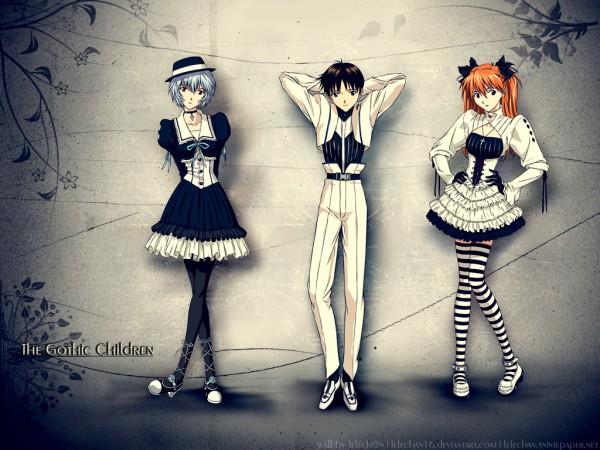 Tags: Anime, Neon Genesis Evangelion, Ikari Shinji, Ayanami Rei, Souryuu Asuka Langley, Wallpaper