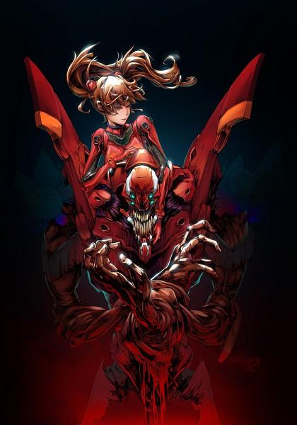 Tags: Anime, Sleepy (Artist), Neon Genesis Evangelion, Eva 02, Souryuu Asuka Langley, deviantART, Mobile Wallpaper, Pixiv, Fanart