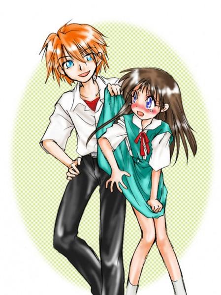 Tags: Anime, Neon Genesis Evangelion, Ikari Shinji, Souryuu Asuka Langley, Fanart