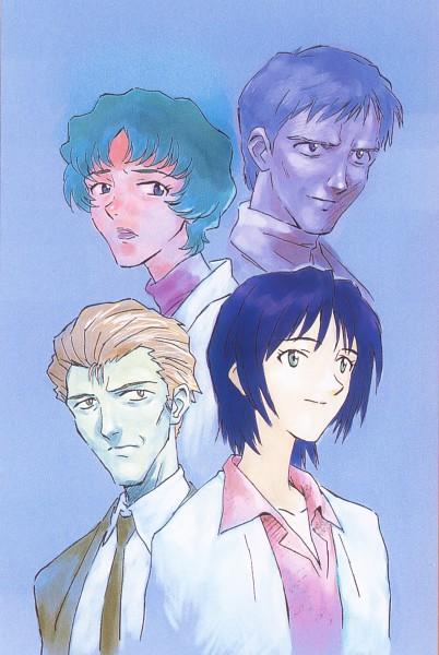 Tags: Anime, Shunji Suzuki, Gainax, Neon Genesis Evangelion, Die Sterne, Fuyutsuki Kouzou, Ikari Yui, Akagi Naoko, Ikari Gendou, Scan, Official Art