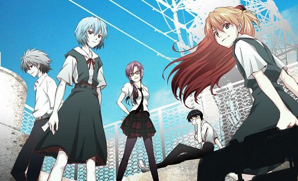 Tags: Anime, Wachi30, Kaoru, Neon Genesis Evangelion, Makinami Mari Illustrious, Nagisa Kaworu, Ikari Shinji, Souryuu Asuka Langley, Ayanami Rei, Fanart