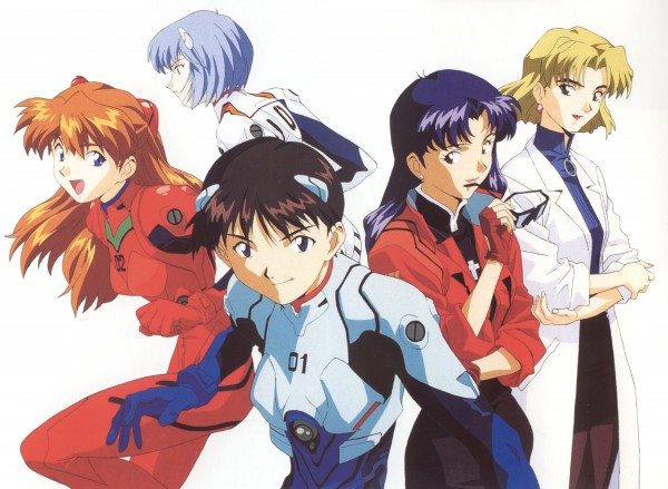 Tags: Anime, Honda Takeshi, Gainax, Neon Genesis Evangelion, Die Sterne, Souryuu Asuka Langley, Katsuragi Misato, Ayanami Rei, Akagi Ritsuko, Ikari Shinji, Scan, Official Art