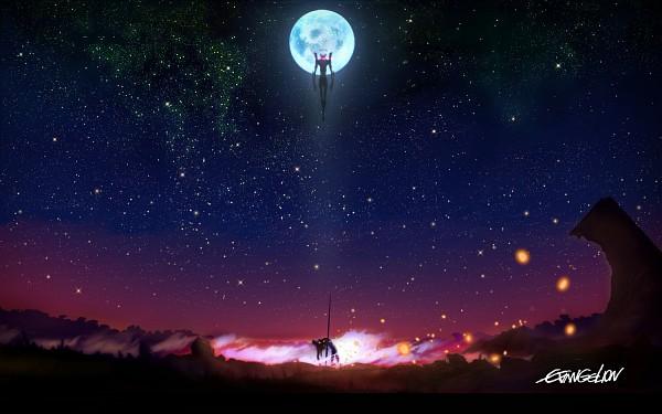 Tags: Anime, Neon Genesis Evangelion, Eva 06, Eva 01, Wallpaper