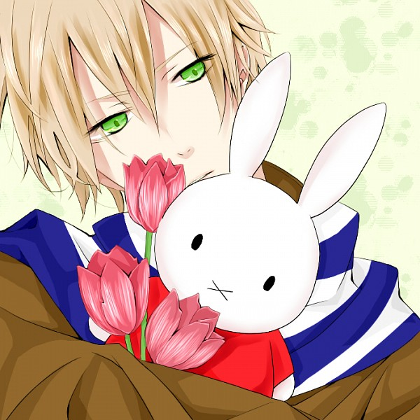 Tags: Anime, Pixiv Id 635959, Axis Powers: Hetalia, Nijntje, Netherlands, Tulip, Fanart, Pixiv, PNG Conversion, Mediterranean Countries, Germanic Countries