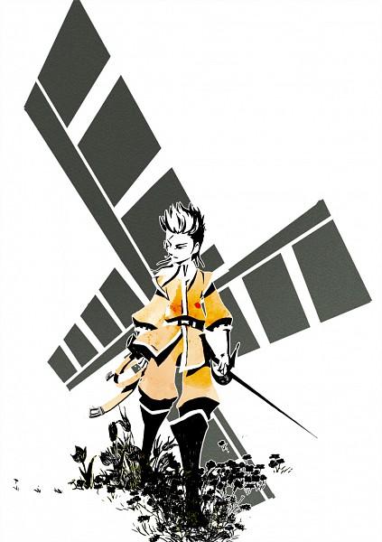 Tags: Anime, Pixiv Id 249104, Axis Powers: Hetalia, Netherlands, Mell, Windmill, Tulip, Pixiv