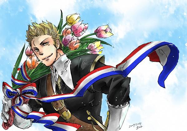 Tags: Anime, Pixiv Id 101086, Axis Powers: Hetalia, Tulip, Flag Print, Pixiv, Fanart