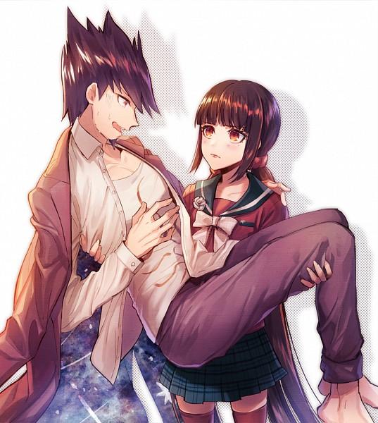 Tags: Anime, Pixiv Id 17274243, New Danganronpa V3, Harukawa Maki, Momota Kaito, Purple Pants, Fanart, Fanart From Pixiv, Pixiv, Danganronpa V3: Killing Harmony
