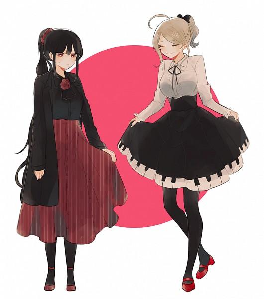 Tags: Anime, Pixiv Id 4119844, New Danganronpa V3, Harukawa Maki, Akamatsu Kaede, PNG Conversion, Pixiv, Fanart, Fanart From Pixiv, Danganronpa V3: Killing Harmony