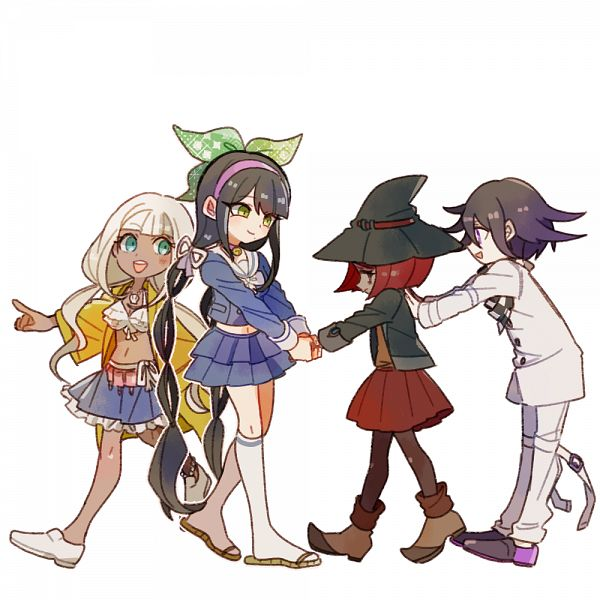 Tags: Anime, Pixiv Id 460180, New Danganronpa V3, Yonaga Angie, Ouma Kokichi, Chabashira Tenko, Yumeno Himiko, Checkered Neckwear, Fanart From Pixiv, Pixiv, Fanart, Danganronpa V3: Killing Harmony