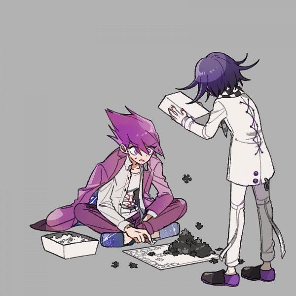 Tags: Anime, Pixiv Id 460180, New Danganronpa V3, Ouma Kokichi, Momota Kaito, Puzzle Piece, Danganronpa V3: Killing Harmony