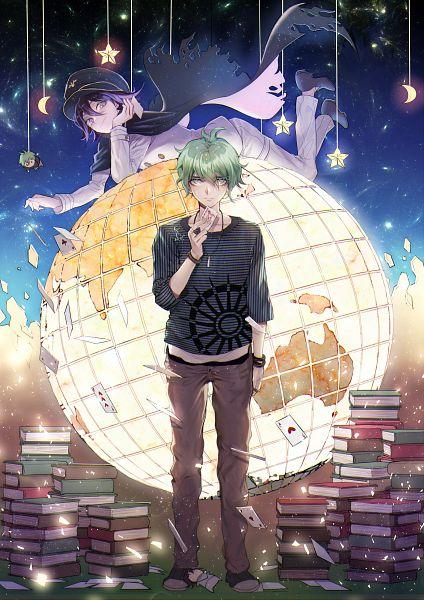 Tags: Anime, Pixiv Id 2312918, New Danganronpa V3, Amami Rantarou, Ouma Kokichi, Globe, Joker Card, Black Cape, Fanart From Pixiv, Pixiv, Fanart, Danganronpa V3: Killing Harmony