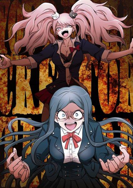 Tags: Anime, New Danganronpa V3, Danganronpa, Shirogane Tsumugi, Enoshima Junko, Artist Request, Danganronpa V3: Killing Harmony