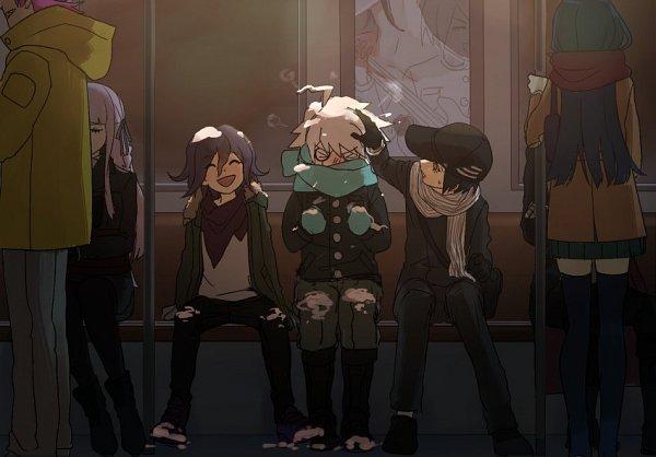 Tags: Anime, Laaaicha, New Danganronpa V3, Saihara Shuuichi, Kiibo (New Danganronpa V3), Ouma Kokichi, Twitter, Danganronpa V3: Killing Harmony