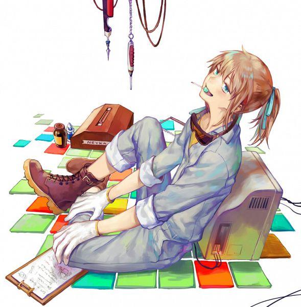 Tags: Anime, Yama Kawa, Kekkai Sensen, Neyka (Kekkai Sensen), Monitor, Pixiv, Fanart, Fanart From Pixiv