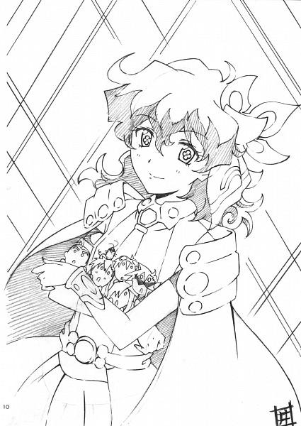 Tags: Anime, Syouta Ibata, Tengen Toppa Gurren-Lagann, Jibun O Shinjite, Nia Teppelin, Sketch, Pray For Japan