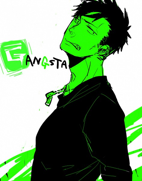 Tags: Anime, GANGSTA., Nicholas Brown, Pixiv, Fanart
