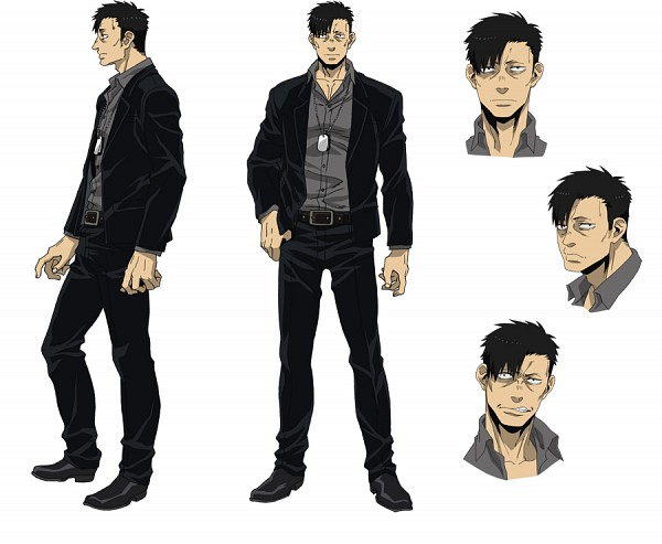 Tags: Anime, manglobe, GANGSTA., Nicholas Brown, PNG Conversion, Official Art, Character Sheet