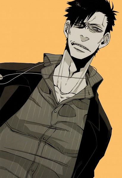 Tags: Anime, Kohsuke, GANGSTA., Nicholas Brown, Official Art, Mobile Wallpaper, Scan