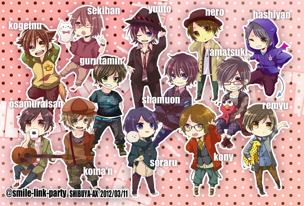 Tags: Anime, Pixiv Id 491788, Sesame Street, Kony, Kogeinu, Sekihan, Hashiyan, Soraru, Yuuto, nero (Utaite), Osamuraisan, Elmo (Sesame Street), Glutamine