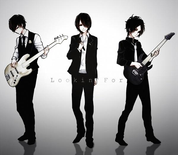 Tags: Anime, Ohagi (Ymnky), Mi-chan, Playing Guitar, Pixiv, Scissorhands, Nico Nico Singer