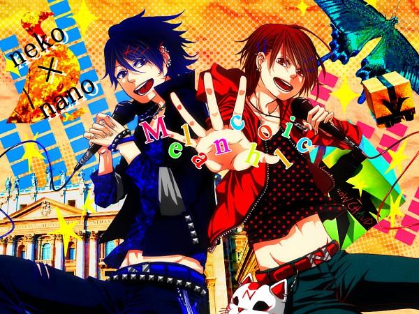 Tags: Anime, Pixiv Id 1629615, Nano (Nico Nico Singer), Neko (Nico Nico Singer), Fanart, Melancholic, Nico Nico Singer, Pixiv, Wallpaper