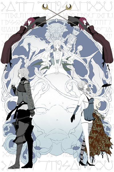 Tags: Anime, SQUARE ENIX, NieR, Yonah, Nier (Character), Popola, Devola, Kaine, Emil (NieR), Mobile Wallpaper