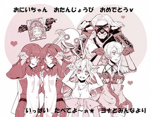 Tags: Anime, Nomura Tetsuya, Hassaku, SQUARE ENIX, NieR, Popola, Devola, Kaine, Grimoire Weiss, Emil (NieR), Yonah, Nier (Character), Fanart