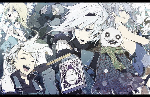 Tags: Anime, Rim (Pixiv 439648), Nomura Tetsuya, SQUARE ENIX, NieR, Kaine, Emil (NieR), Yonah, Nier (Character), Grimoire Weiss, Fanart, Fanart From Pixiv, Pixiv
