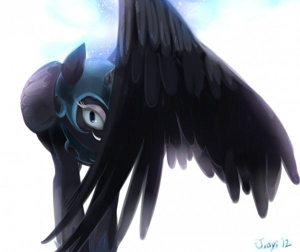 Tags: Anime, Jiayi, My Little Pony, Princess Luna, Nightmare Moon, Alicorn, Pegasus, deviantART, Fanart From DeviantART, Fanart, Revision