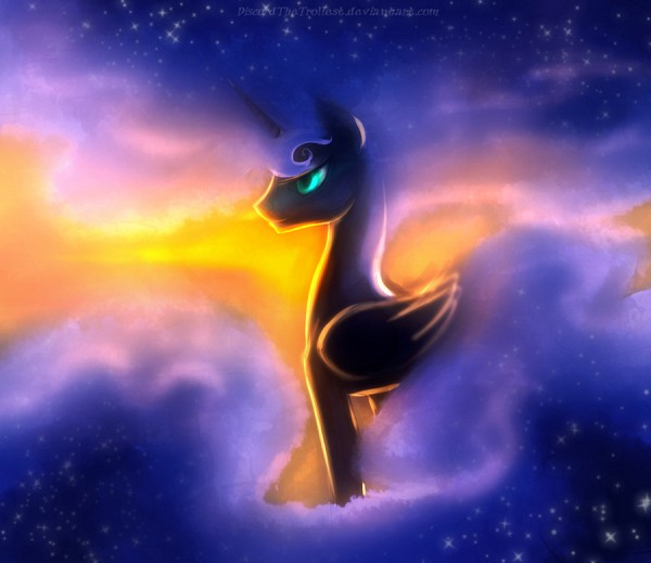 Tags: Anime, Discordthetrollest, My Little Pony, Princess Luna, Nightmare Moon, Alicorn, Fanart From DeviantART, Fanart, deviantART