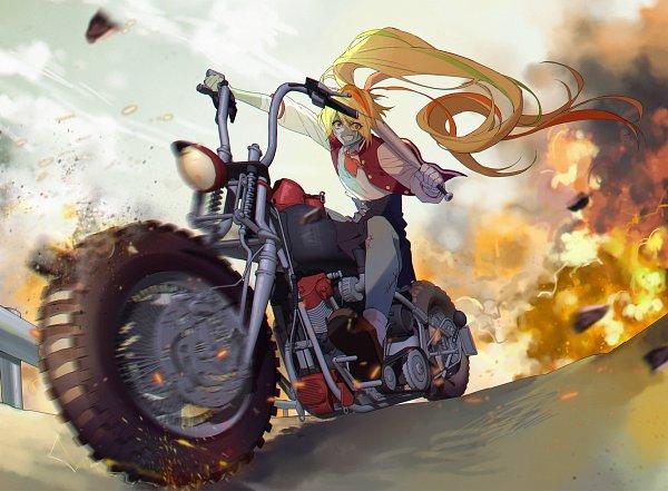 Tags: Anime, Pixiv Id 6926366, Zombieland Saga, Nikaidou Saki, Explosion, Pixiv, Fanart, Fanart From Pixiv
