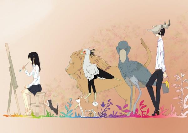Tags: Anime, Nikogori-mattyaduke, Painting (Action), Original, Oekaki Musume, Pixiv