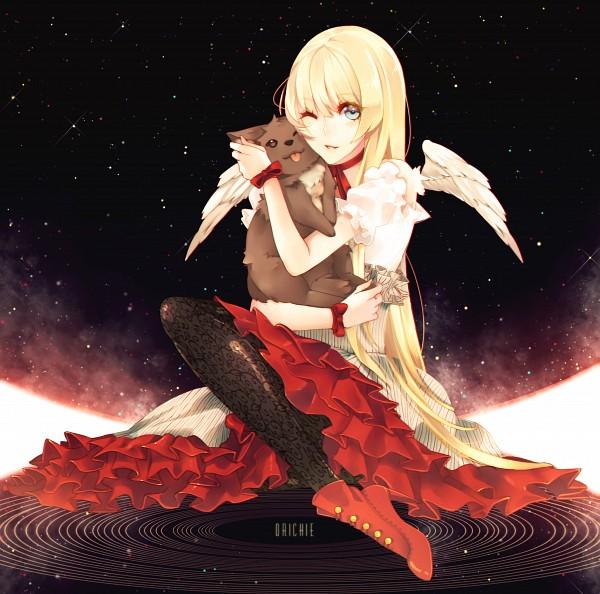 Tags: Anime, Khaizusan, DOGS: Bullets & Carnage, Nill, Vertical-striped Dress, Small Wings, deviantART, Fanart From DeviantART, Fanart