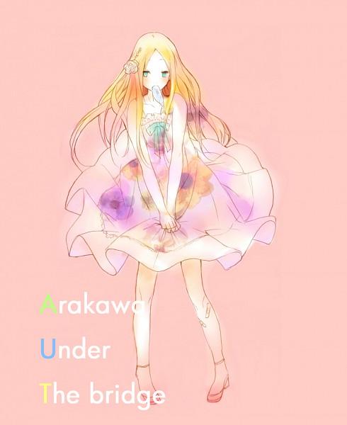 Tags: Anime, Ume (Plumblossom), Arakawa Under the Bridge, Nino (Arakawa), Flower In Mouth