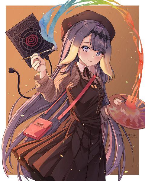 Tags: Anime, Pixiv Id 17030243, Hololive, Ninomae Ina'nis Ch., Ninomae Ina'nis, Plug, 1200x1500 Wallpaper, Palette (Object), Wallpaper, Mobile Wallpaper