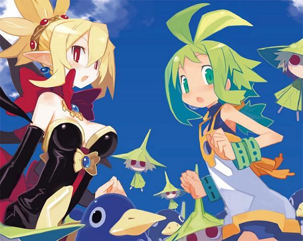 Tags: Anime, Harada Takehito, Nippon Ichi Software, Phantom Brave, Makai Senki Disgaea, Prinny, Putty, Rozalin, Marona, Official Art