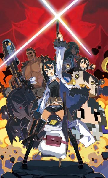 Tags: Anime, Harada Takehito, Nippon Ichi Software, Makai Senki Disgaea, Asagiri Asagi, Prinny, Explosion, Official Art, Mobile Wallpaper