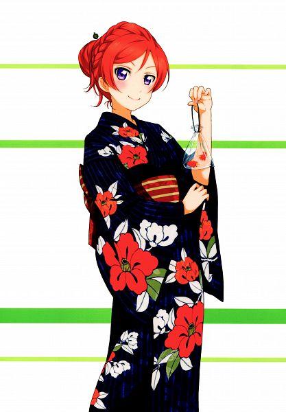 Tags: Anime, KLab, Sunrise (Studio), Love Live!, Love Live! School Idol Festival Official Illustration Book, Love Live! School Idol Festival, Nishikino Maki, Official Art, Scan, Mobile Wallpaper