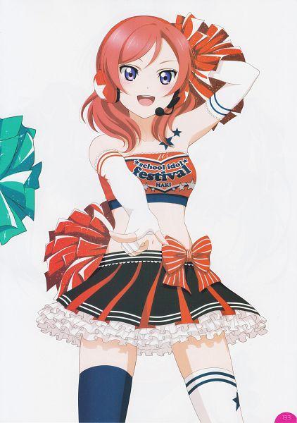 Tags: Anime, KLab, Sunrise (Studio), Love Live!, Love Live! School Idol Festival Official Illustration Book, Love Live! School Idol Festival, Nishikino Maki, Official Art, Scan, Paradise Live, Mobile Wallpaper