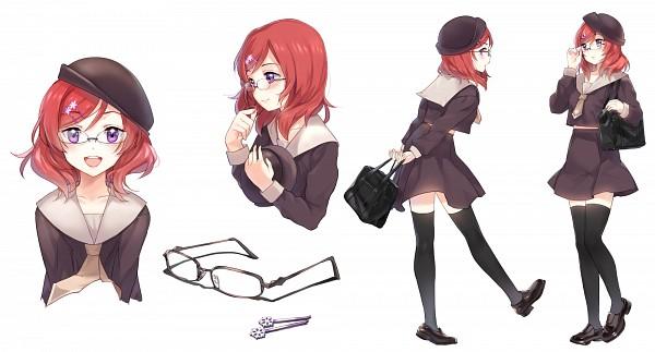 Tags: Anime, Sheska Xue, Love Live!, Nishikino Maki, Character Sheet, Fanart From Pixiv, Wallpaper, Fanart, Facebook Cover, Pixiv